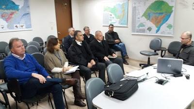 Serviço Geológico do Brasil recebe visita da Defesa Civil do RS