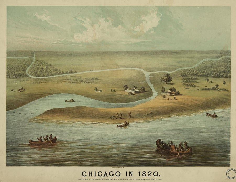 chicago on mudflats, 1820