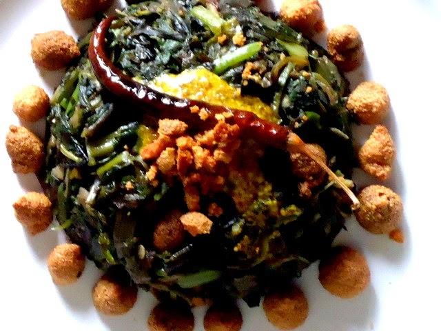 Bhut chaturdoshi and Choddo Shak - 14 Greens ritual