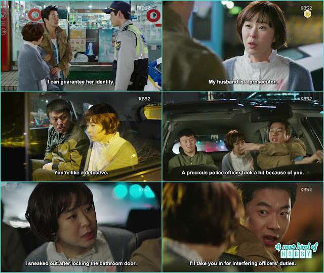 detective wang seung took seol ok for interfering in police investigation -  Queen of Mystery: Episode 2