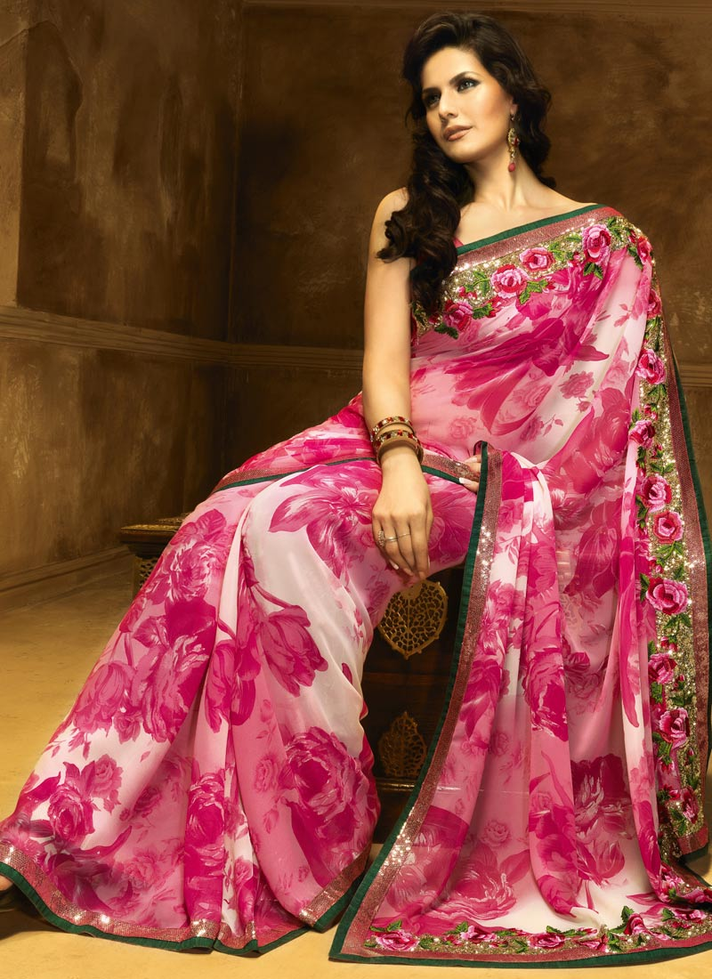 Latest Women Best Winter Dresses Designs Collection 2014 2015: Indian Sari Or Saree For Stylish Women