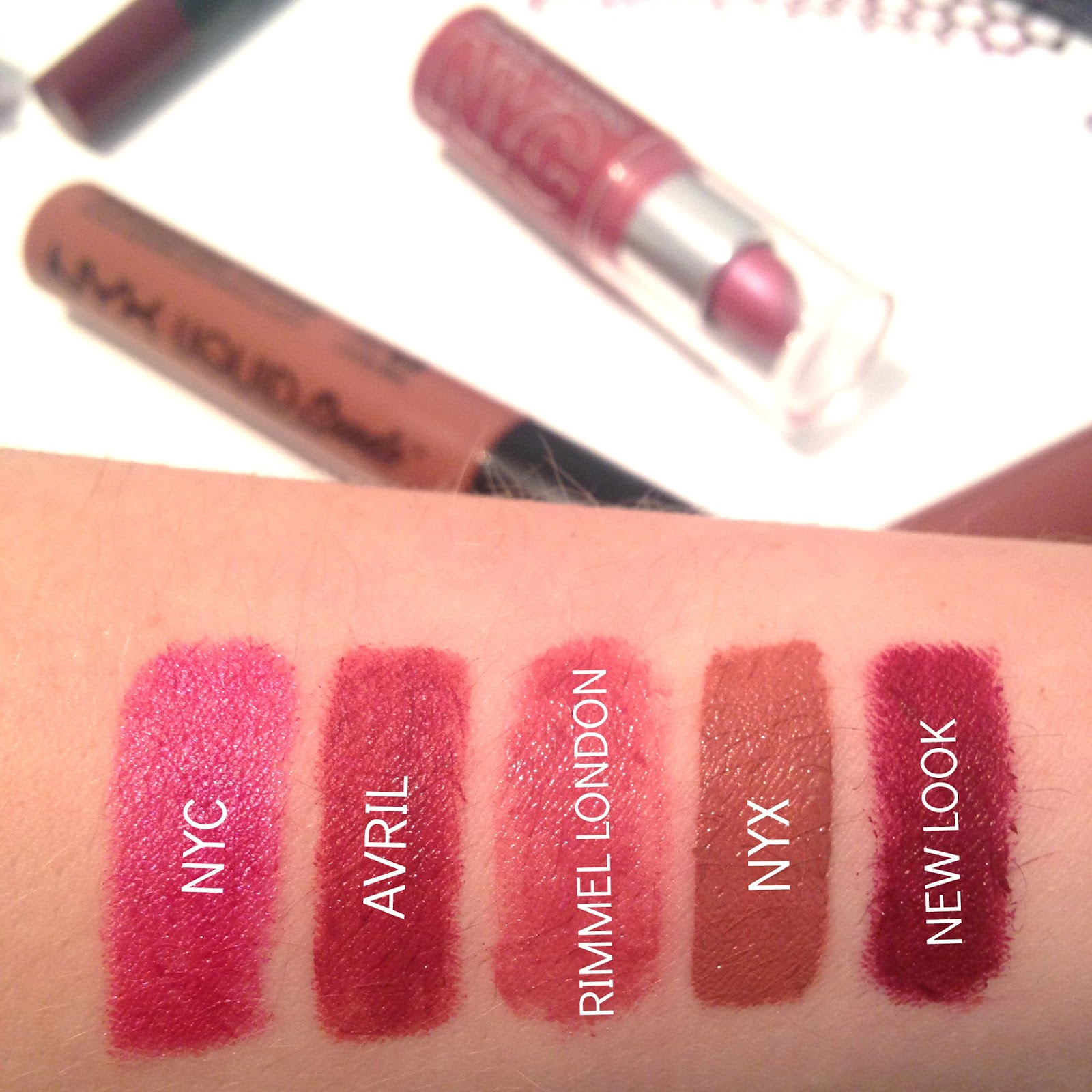 My Go-To Lipsticks All Under £10 Swatches