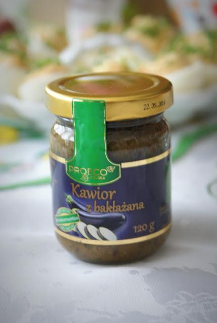 Łowicz,Proeco,bez laktozy,nietolerancja laktozy,kawior z bakłażana, bakłażan,kuchnia śródziemnomorska,przystawka,papryka,ogórek
