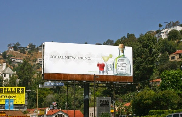 Social networking Patron Tequila billboard