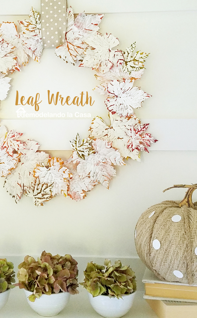 crackle finished leaves for wreath - Fall - White decor