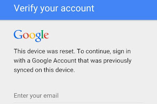 Verify your google account