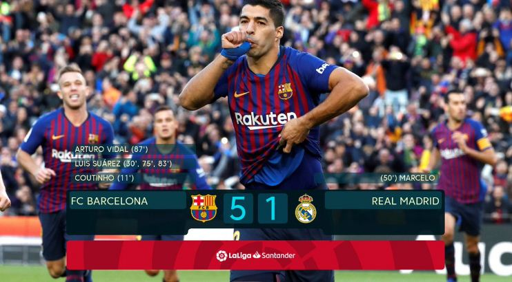 Barcelona Hantam Real Madrid 5-1