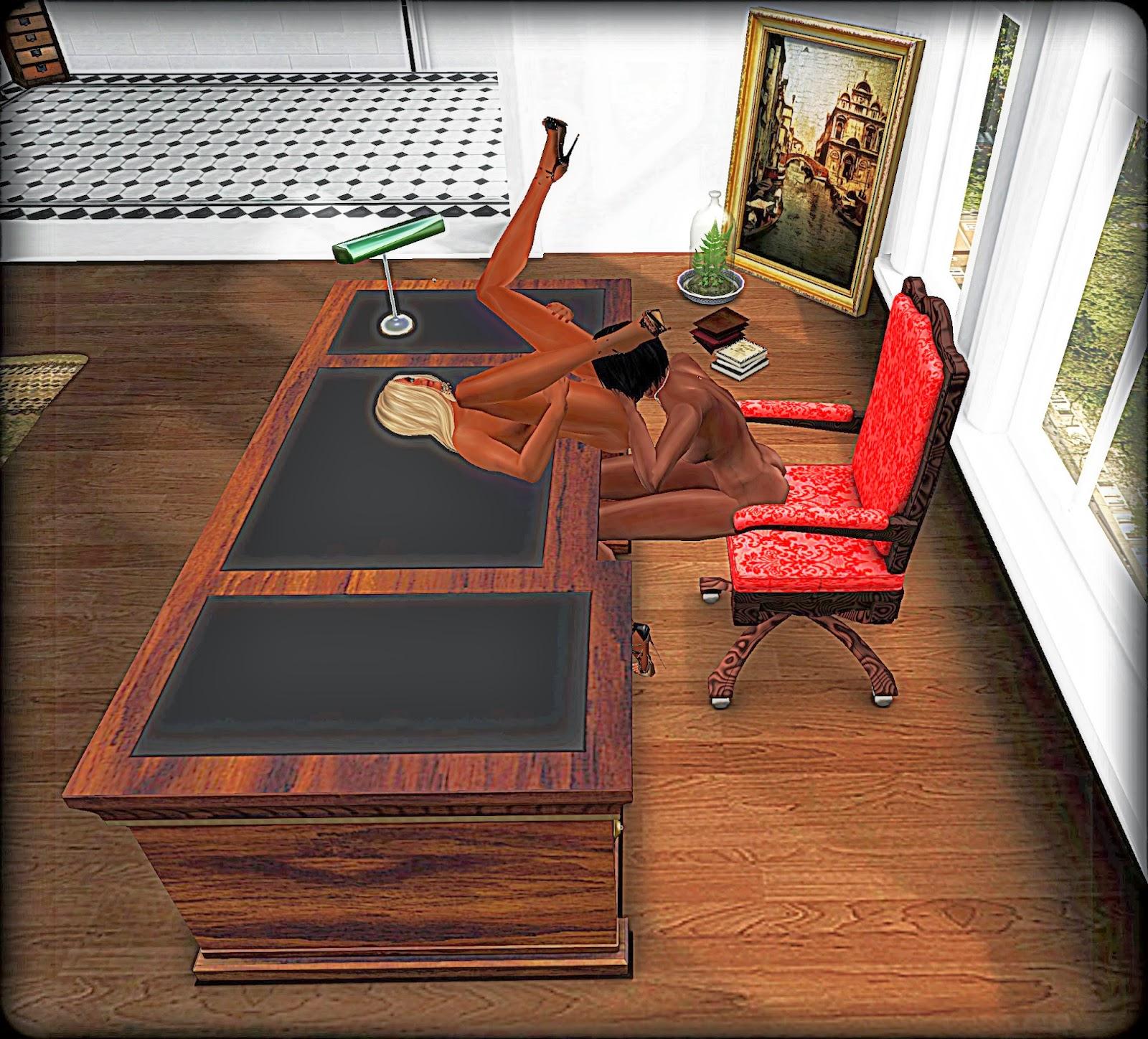 Alina Animations: Office Desk V2 - Classic Model