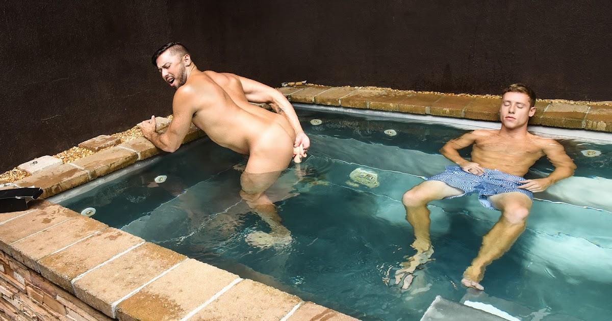 Naked shower pool swimmers gay men #11