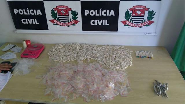 FLAGRANTE DE TRÁFICO DE DROGAS E CAPTURA DE PROCURADO PELA DISE NO ARAPONGAL EM REGISTRO-SP