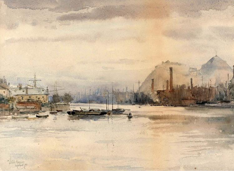 Frederick Childe Hassam - Dumbarton Rock 1883