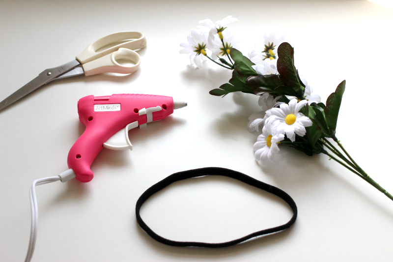 supplies to make your own flower headband