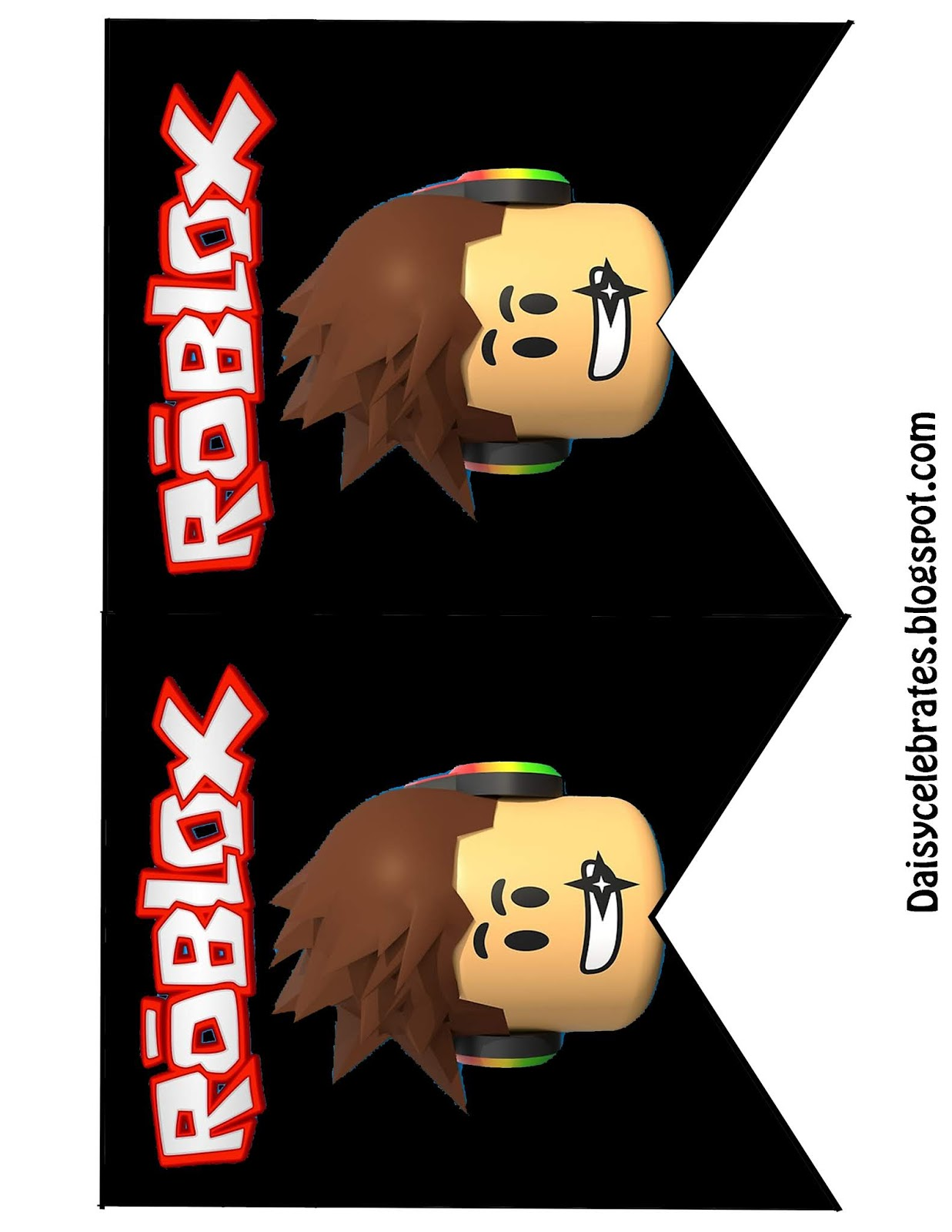 roblox birthday party printable files