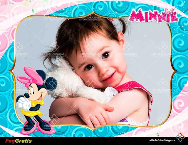 Marco para hacer fotomontajes de cumpleaños gratis de Mimi o Minnie Mouse
