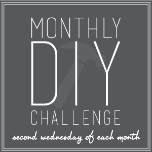 DIY Monthly Challenge- 13 Bloggers are challenged with a different item each month!