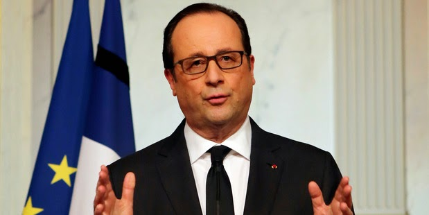 French President Francois Hollande vows end to terror