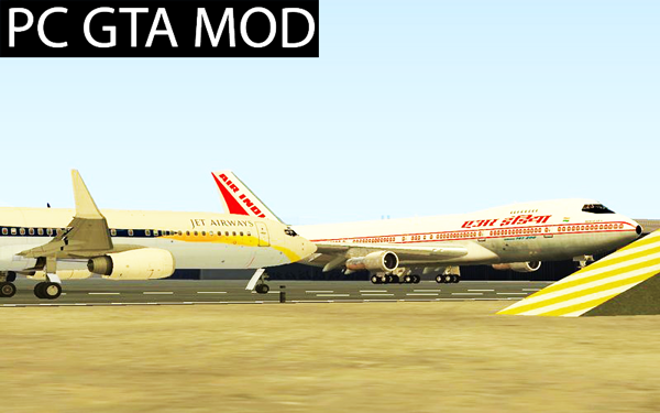 Free Download  Boeing 737-800 Jet Airways  Mod for GTA San Andreas.