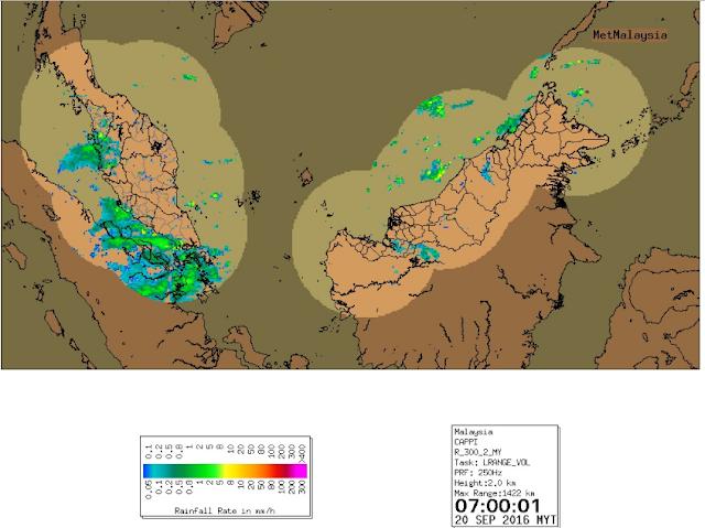 Hujan, Ribut Petir Menyeluruh Di Pantai Barat, Johor