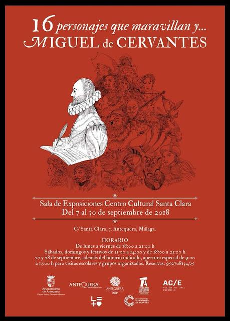 Exposición sobre Cervantes y sus personajes en Antequera