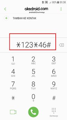 Mengakses *123*46# di perangkat android untuk aktivasi nomor kartu xl 3G ke 4G