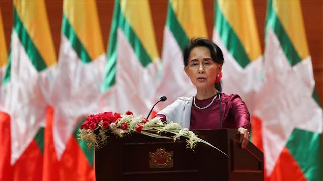Myanmar's leader Aung San Suu Kyi's speech draws international reactions