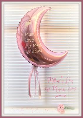 Personal Crescent Moon Balloon by Jacqui Pettitt of Tiffany's Balloons - UK
