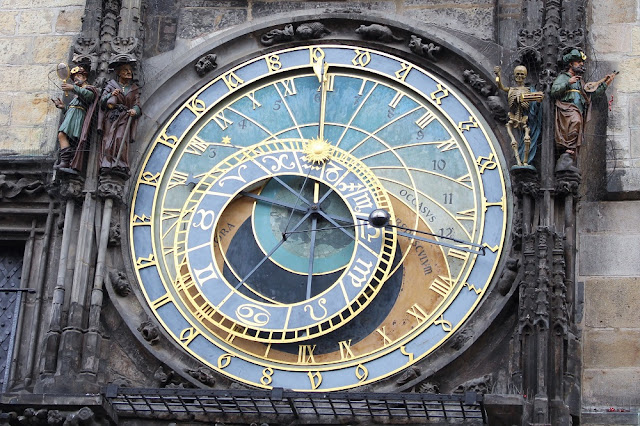 Astronomical clock in Prague, Czech Republic - travel and lifestyle blog