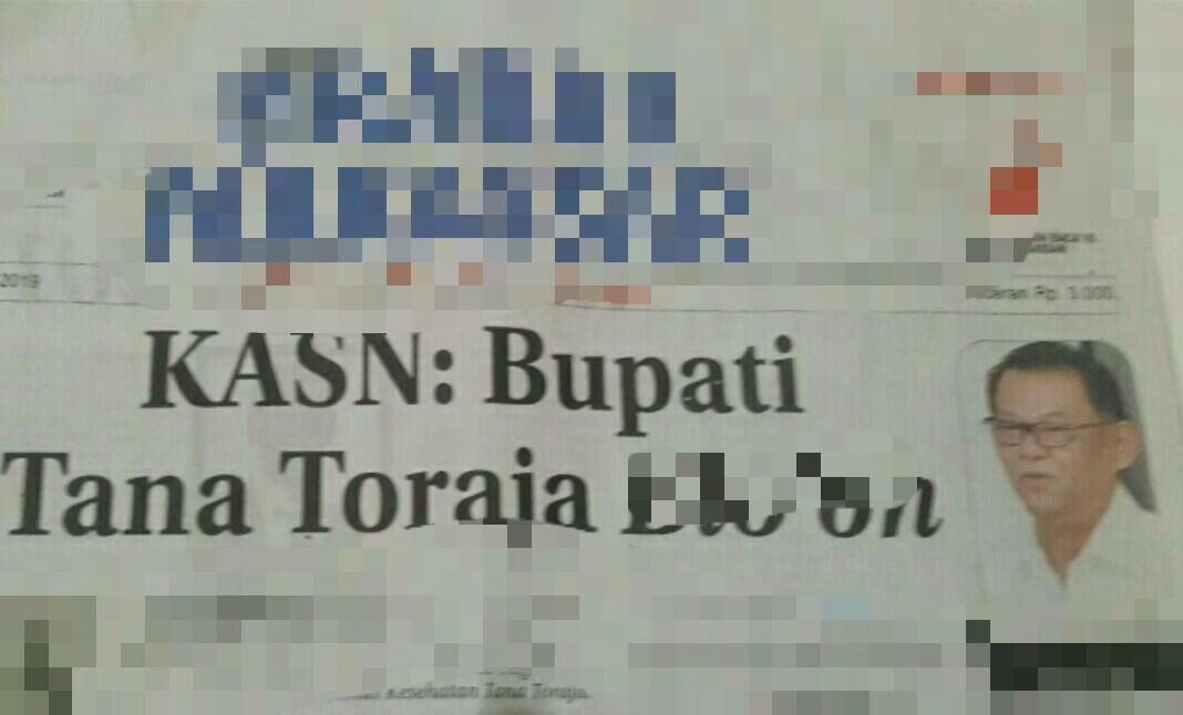 Sebut Bupatinya 'Bloon dan Dungu', Tokoh Masyarakat Toraja Kecam Oknum KASN