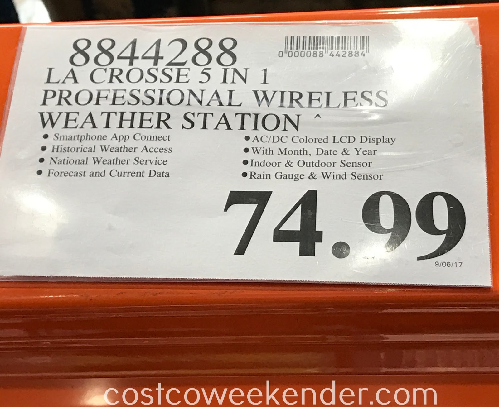 Deal for the La Crosse Professional Remote Monitoring Weather Station at Costco