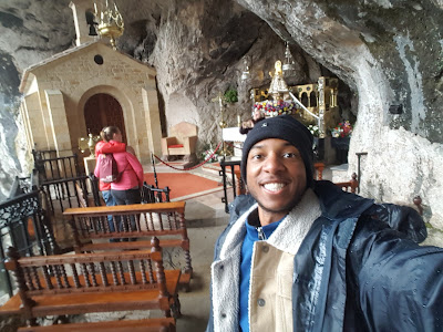 In the Santa Cueva sanctuary