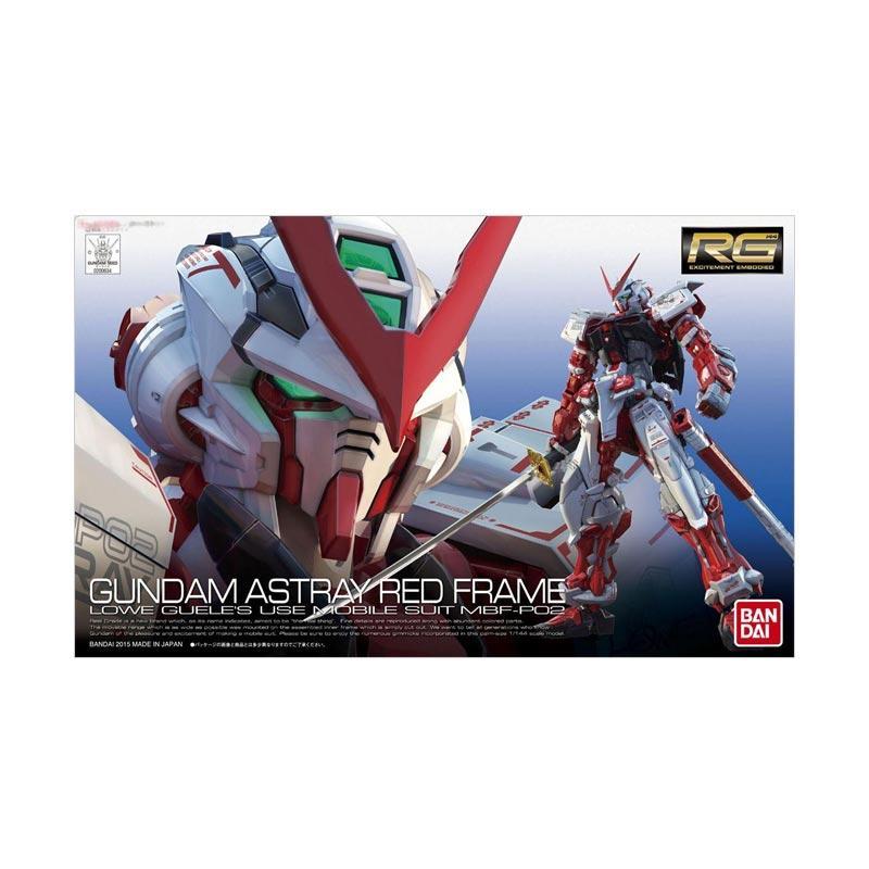 Bandai Gunpla-Gundam RG 19 MBF-P02 Astray Red Frame Model Kit [00634 0472428]