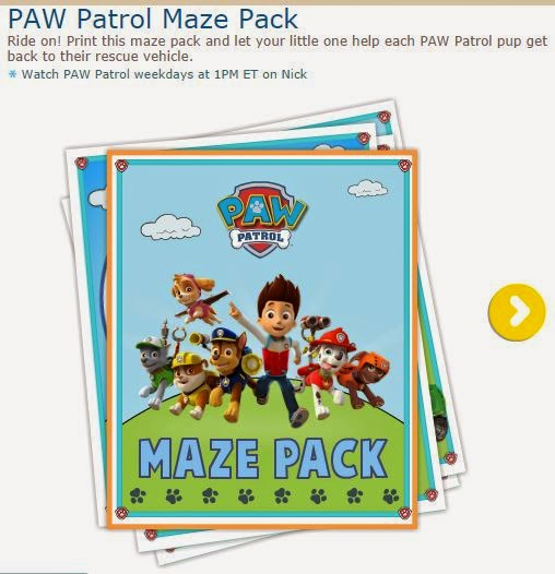 Paw Patrol Free Printable Maze Pack Oh My Activities