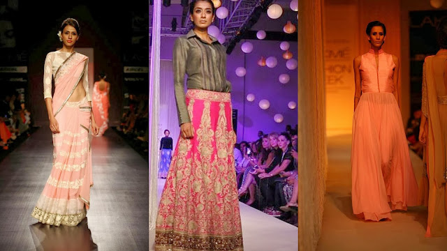 Models in Manish Malhotra at Lakme Fashion Week 2013