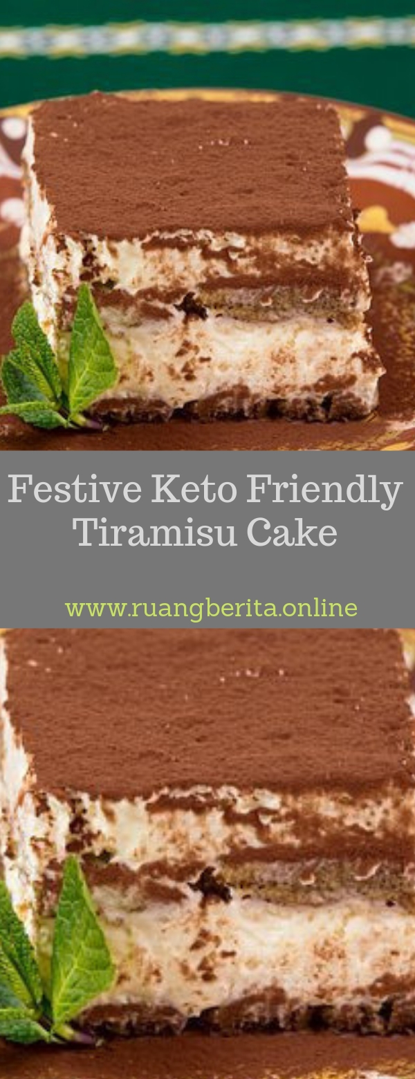 Festive Keto Friendly Tiramisu Cake