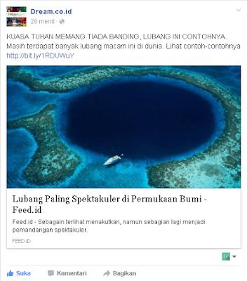 Contoh berbagi konten di Facebook