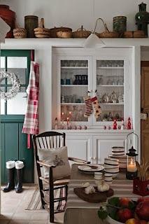 decoración cocina navideña
