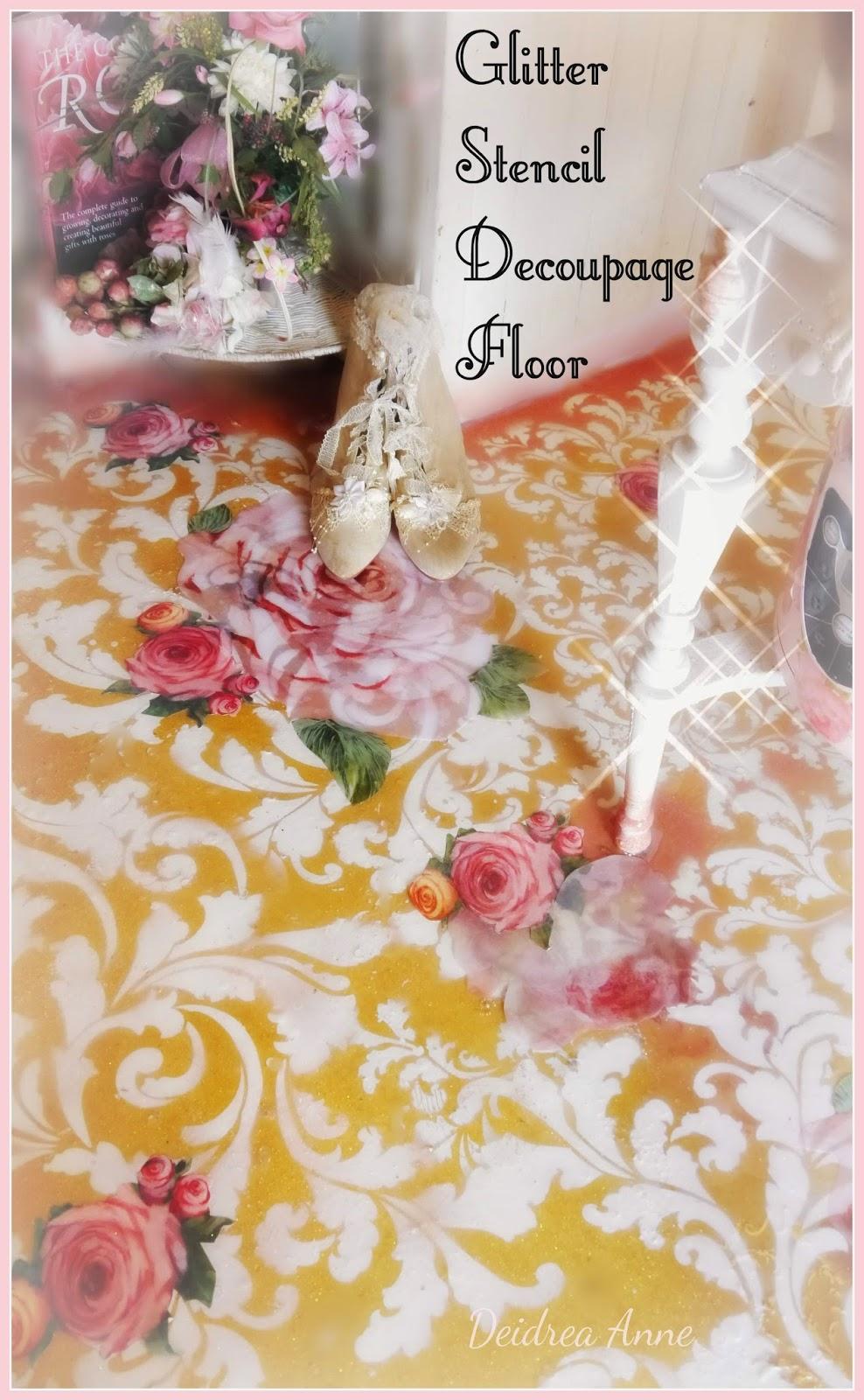 Suzy Homefaker Recycled Painted Linoleum Kitchen Glitter