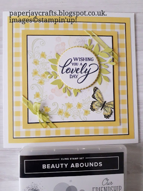 Beauty Abounds Gingham Gala stampin up
