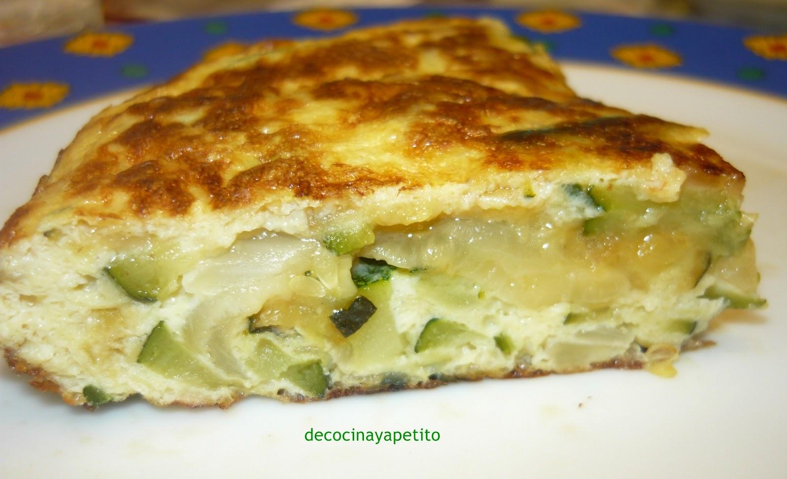 Cocinando con vicky recetas de cocina tortilla de - Tortilla de calabacin y cebolla ...