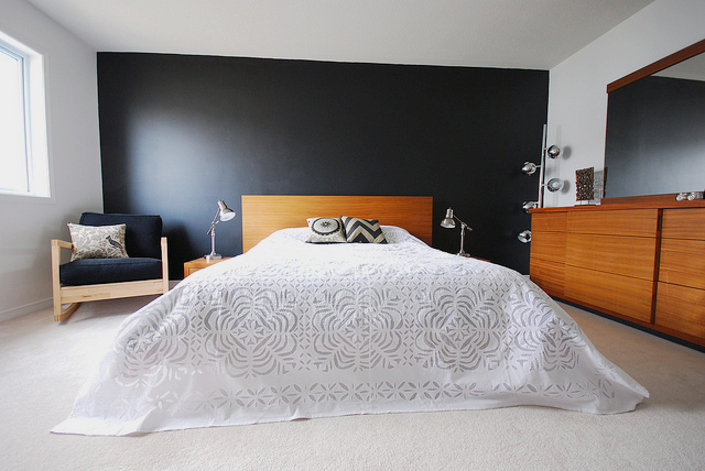 Super Black Wall Bedroom Images About Black Bedrooms On Pinterest Largest Home Design Picture Inspirations Pitcheantrous