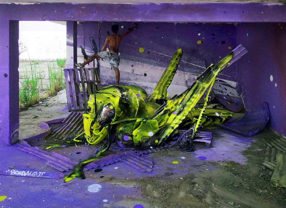 52c068d772 Artista português usa material reciclado para criar obras de arte de ...