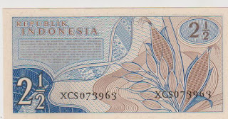 2.5 Rupiah Seri Sandang Pangan Tahun 1961 belakang