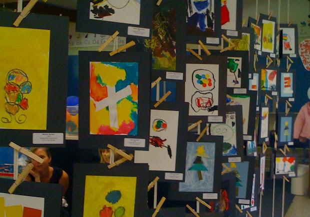 Kids Art Market Show Sutterville Preschool