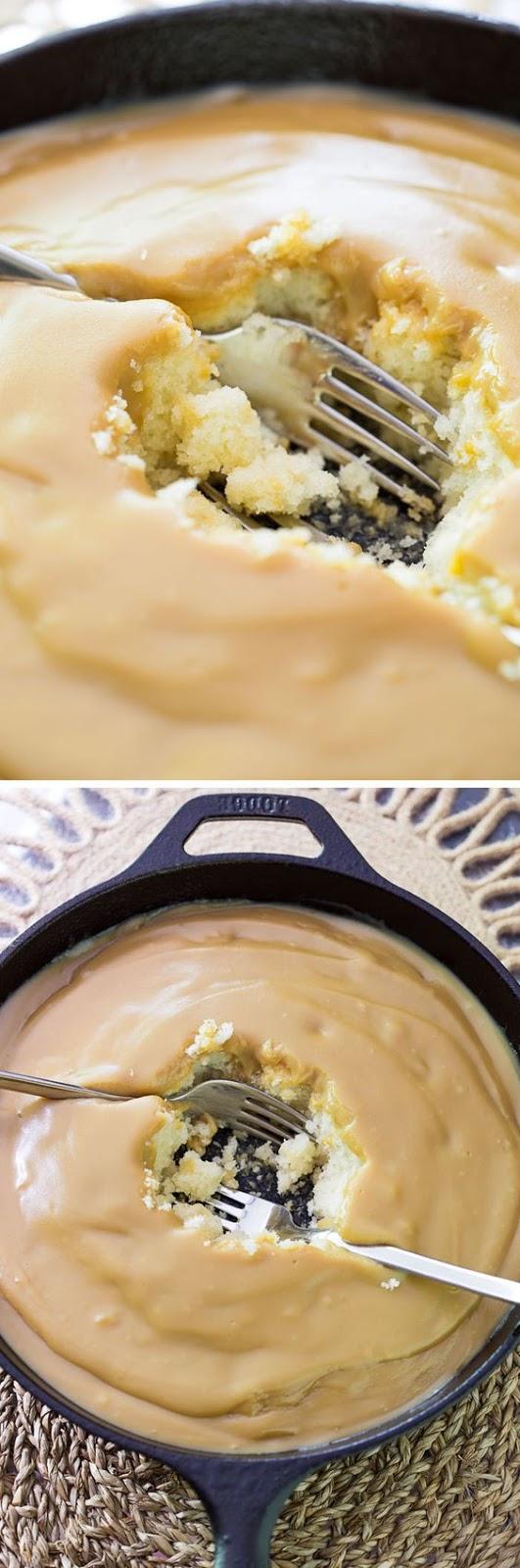 Hot Butterscotch Pudding Poke Cake