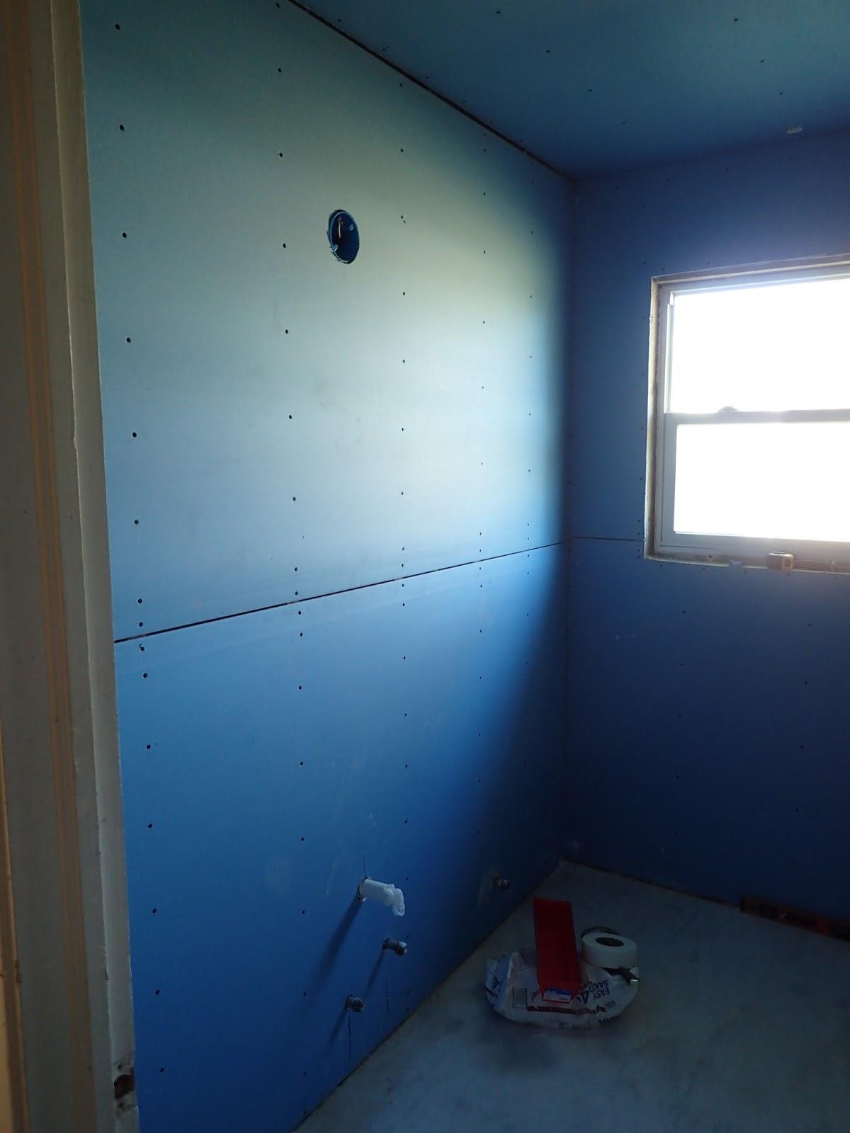 Funky Hardibacker Wall Installation Festooning - Bathtub Ideas ...