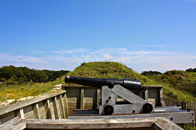 Checking out the Civil War fortifications at Fort Fisher in North Carolina