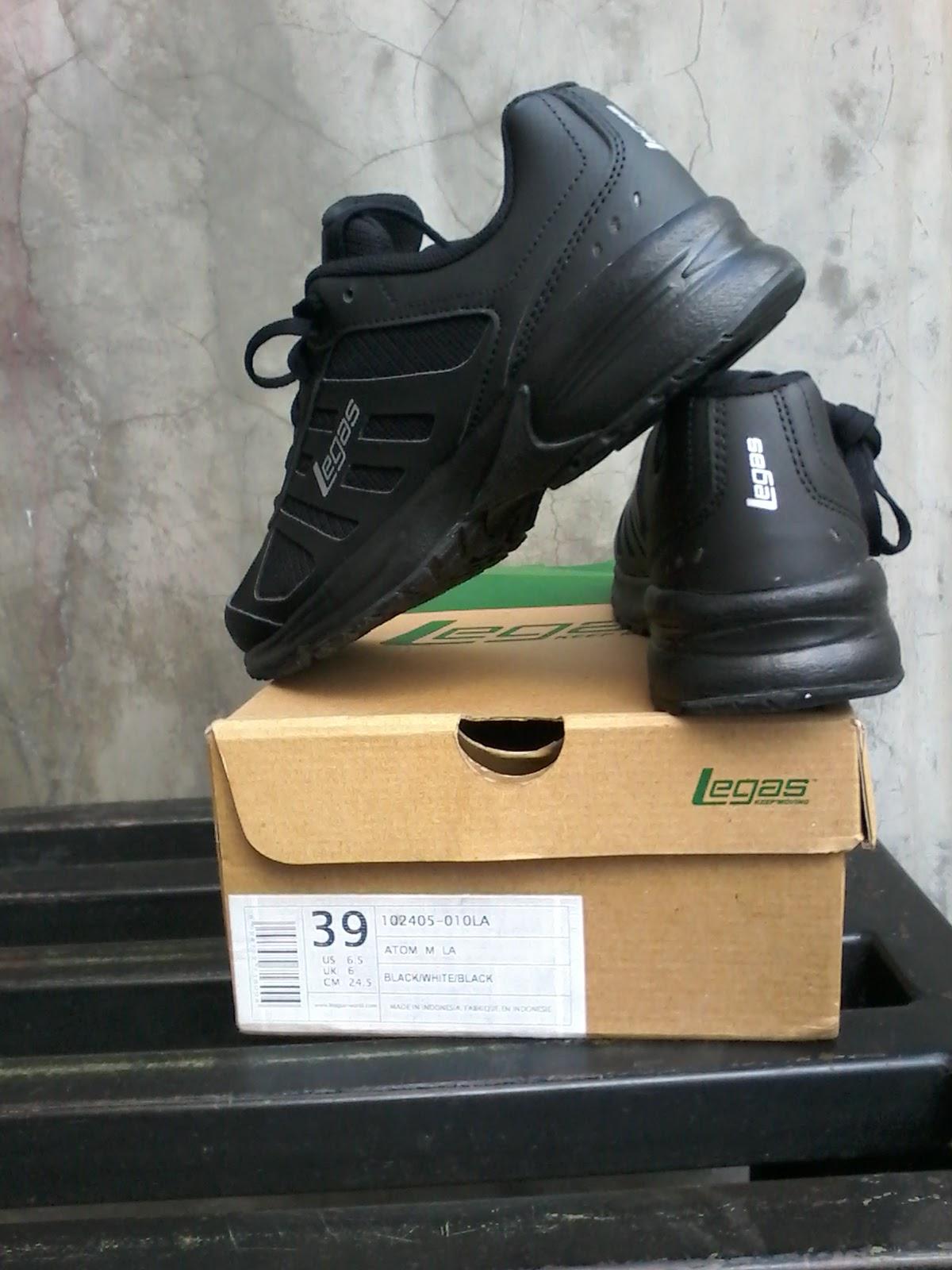 Sepatu Sekolah Legas Attom All Black ~ Toko Sepatu Original Anti Kw ad61974cb3