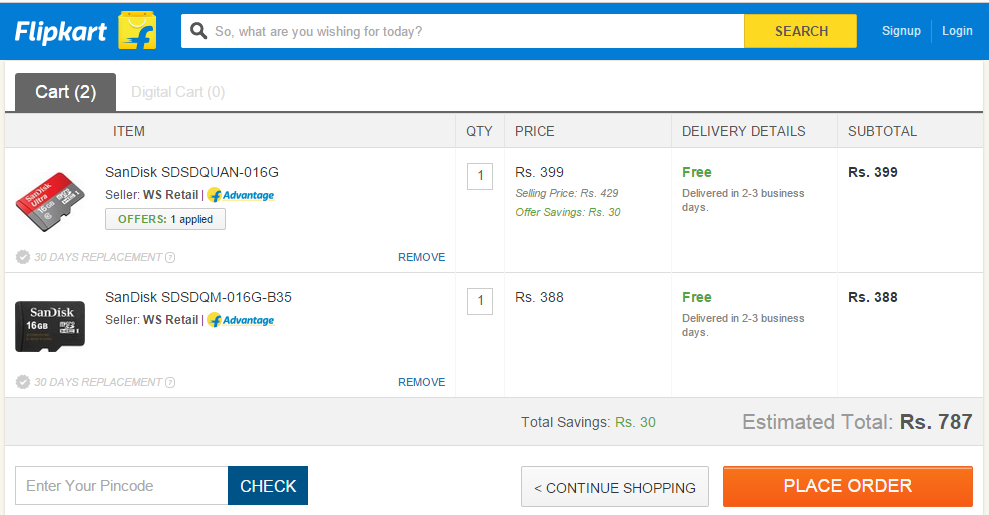 047cc52e781b Flipkart Free Delivery Trick To Bypass Delivery Charges