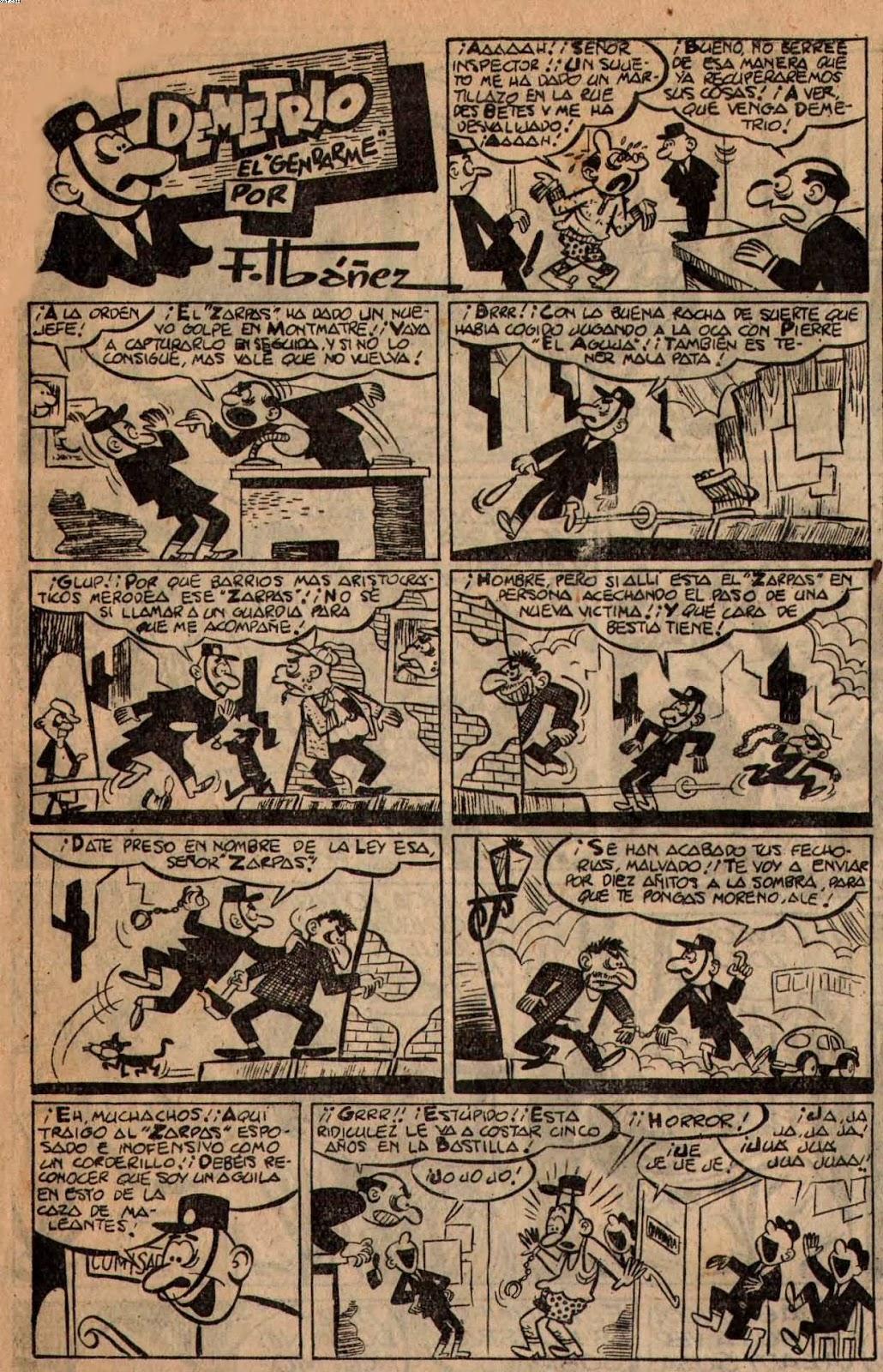 Demetrio el Gendarme, Almanaque la Risa 1957