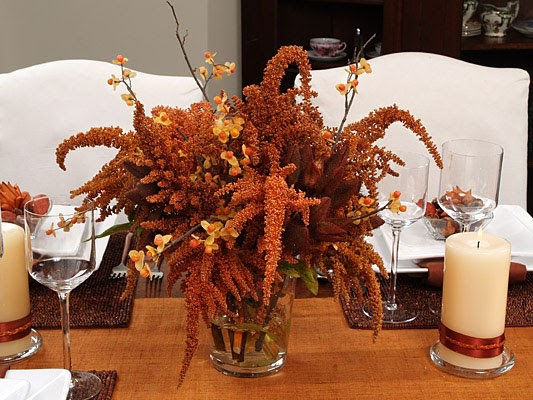 Simple Warm Winter Table Decorations